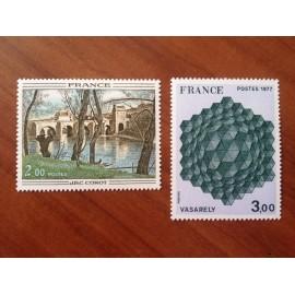 France Yvert Num 1923-1924 ** Tableau   1977