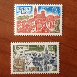 France Yvert Num 1928-1929 ** Europa   1977