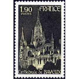 France Yvert Num 1939 ** Bayeux cathedrale  1977