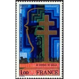 France Yvert Num 1941 ** De Gaulle  1977
