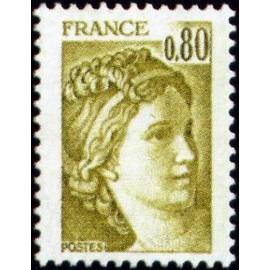 France Yvert Num 1971 ** Sabine  1978