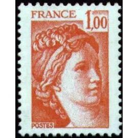 France Yvert Num 1972 ** Sabine  1978