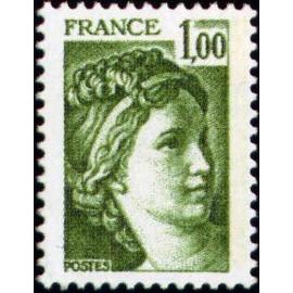 France Yvert Num 1973 ** Sabine  1978