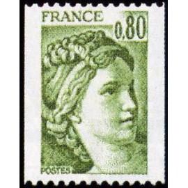 France Yvert Num 1980 ** Roulette Sabine  1978