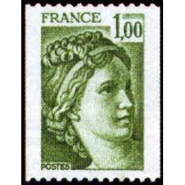 France Yvert Num 1981A ** Roulette Sabine  1978