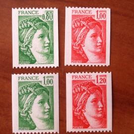 France Yvert Num 1980-1981B ** Roulette Sabine  1978