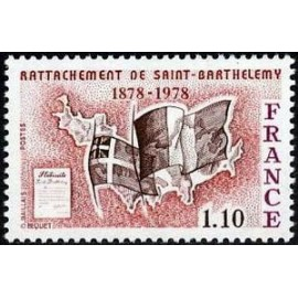 France Yvert Num 1985 ** St Barthelemy  1978