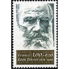 France Yvert Num 1989 ** Leon Tolstoi  1978