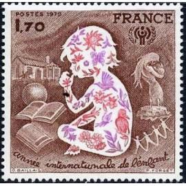 France Yvert Num 2028 ** Enfant  1979