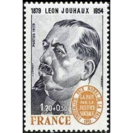 France Yvert Num 2030 ** Leon Jouhaux  1979