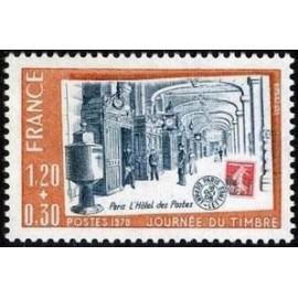 France Yvert Num 2037 ** Journee du timbre  1979