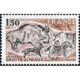 France Yvert Num 2043 ** Grotte de Niaux  1979