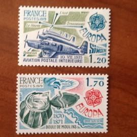 France Yvert Num 2046-2047 ** Europa   1979