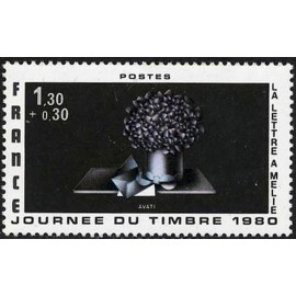 France Yvert Num 2078 ** Journee du timbre  1980