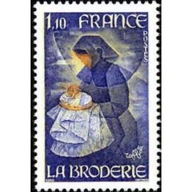 France Yvert Num 2079 ** Broderie  1980