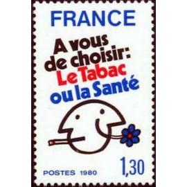 France Yvert Num 2080 ** Tabac  1980