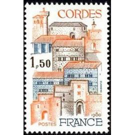 France Yvert Num 2081 ** Bastide Cordes  1980