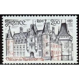 France Yvert Num 2082 ** Château de Maintenon  1980