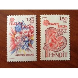 France Yvert Num 2085-2086 ** Europa   1980