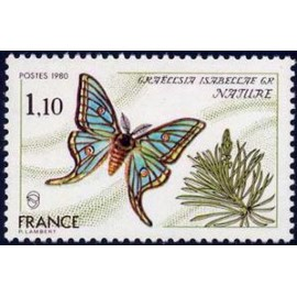 France Yvert Num 2089 ** Papillon  1980