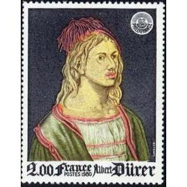 France Yvert Num 2090 ** Tableau Durer  1980