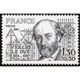 France Yvert Num 2095 ** Viollet le Duc  1980