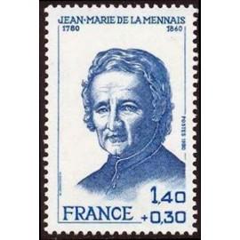 France Yvert Num 2097 ** De La Mennais  1980
