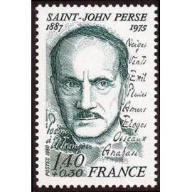 France Yvert Num 2099 ** Saint John Perse  1980