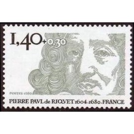 France Yvert Num 2100 ** Pierre Paul de Riquet  1980