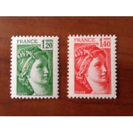 France Yvert Num 2101-2102 ** Sabine  1980