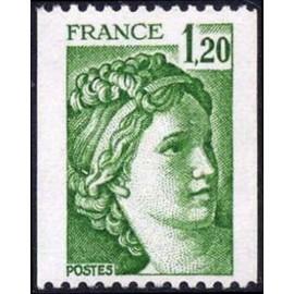 France Yvert Num 2103 ** roulette Sabine  1980