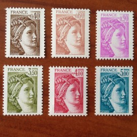 France Yvert Num 2118-2123 ** Sabine  1981