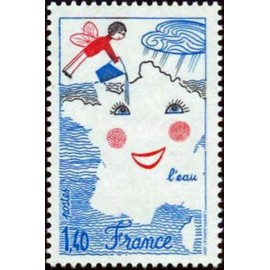 France Yvert Num 2125 ** Eau dessin  1981