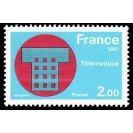 France Yvert Num 2130 ** telematique  1981