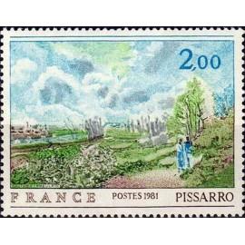 France Yvert Num 2136 ** tableaux Pissaro  1981