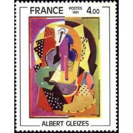 France Yvert Num 2137 ** tableaux  Gleizes  1981