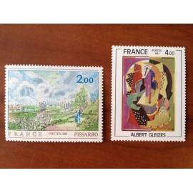 France Yvert Num 2136-2137 ** Tableau   1981