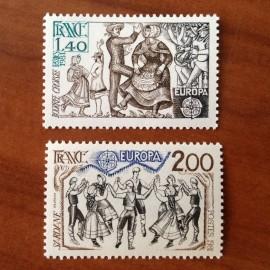 France Yvert Num 2138-2139 ** Europa   1981