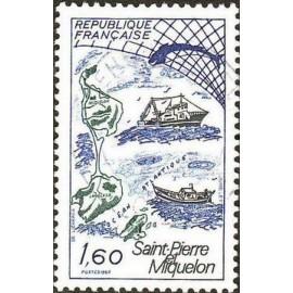 France Yvert Num 2193 ** St Pierre miquelon  1982