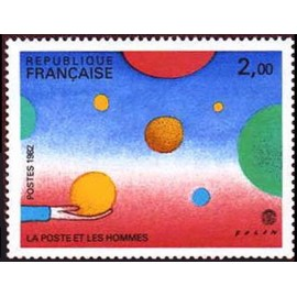 France Yvert Num 2199 ** tableaux  Folon  1982
