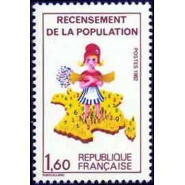 France Yvert Num 2202 ** Recensement  1982