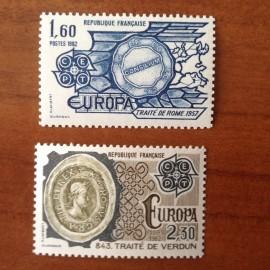 France Yvert Num 2207-2208 ** Europa   1982
