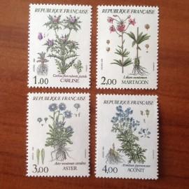 France Yvert Num 2266-2269 ** Fleur flore  1983