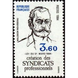 France Yvert Num 2305 ** Syndicats  1984