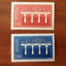 France Yvert Num 2309-2310 ** Europa   1984