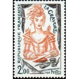 France Yvert Num 2315 ** La Gravure  1984
