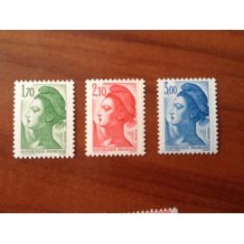 France Yvert Num 2318-2320 ** Liberté  1984