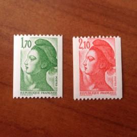 France Yvert Num 2321-2322 ** Roulette  1984