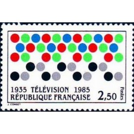 France Yvert Num 2353 ** Television  1985