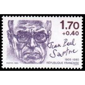 France Yvert Num 2357 ** JP Sartre  1985